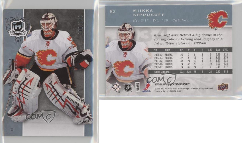 2007-08-Upper-Deck-The-Cup-83-Miikka-Kiprusoff-Calgary-Flames-Hockey-Card