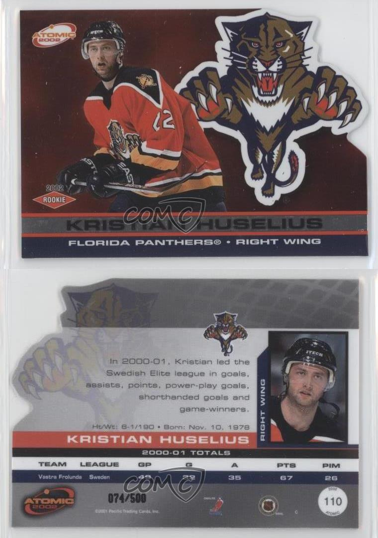 2001-02-Pacific-Atomic-110-Kristian-Huselius-Florida-Panthers-Rookie-Hockey-Card