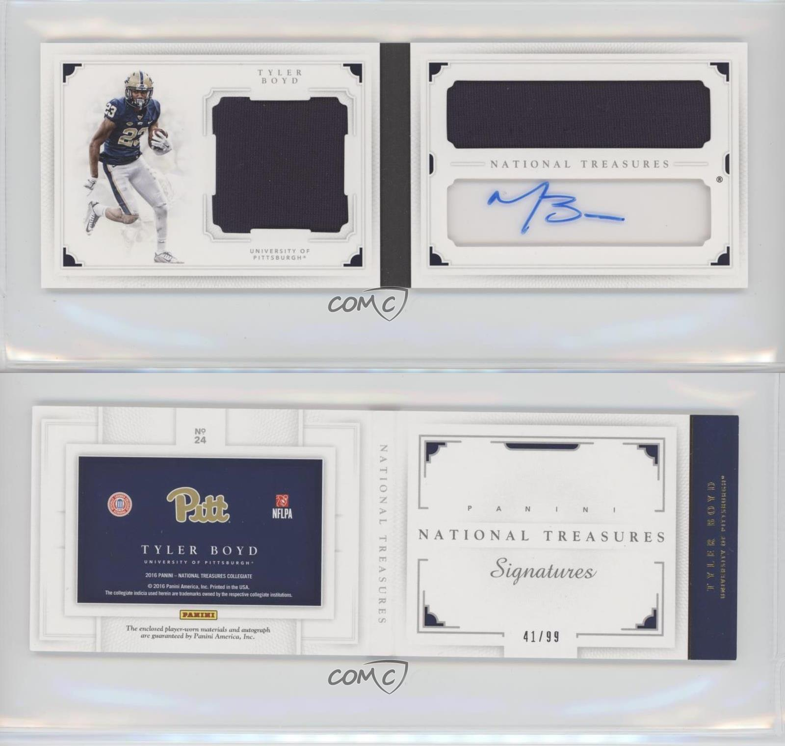 2016-Panini-National-Treasures-Collegiate-24-Tyler-Boyd-Pittsburgh-Panthers-Auto