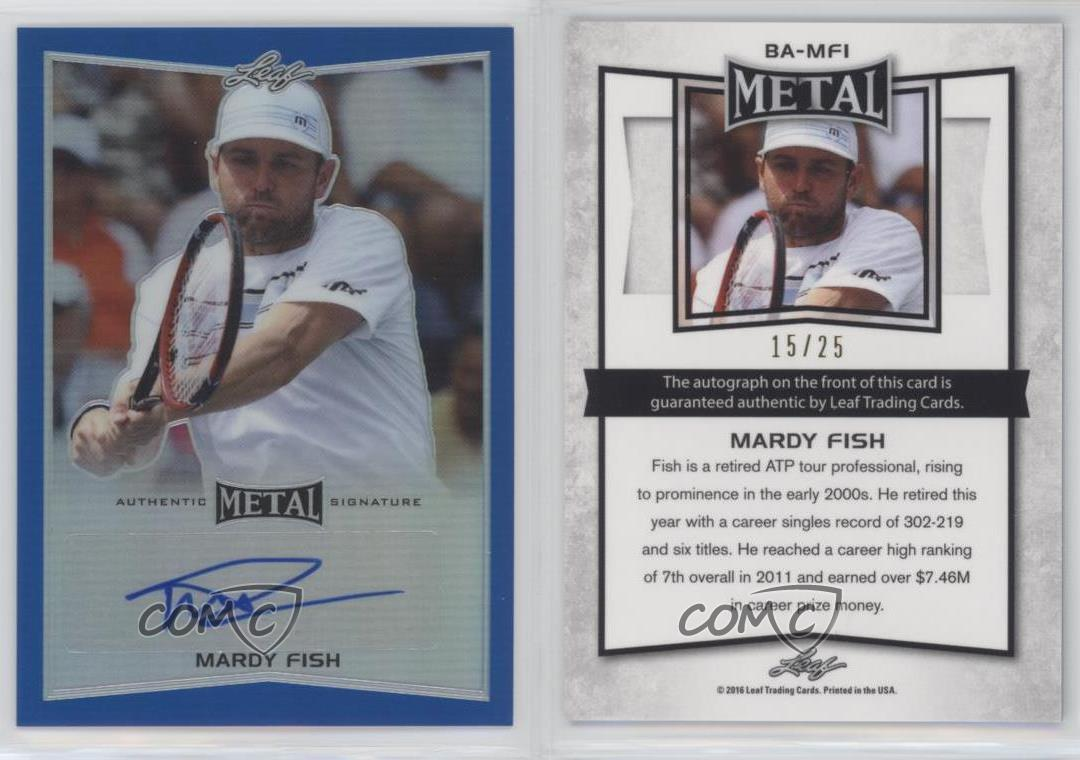 2016 Leaf Metal Tennis Francoise Abanda Base Prismatic Auto Autograph