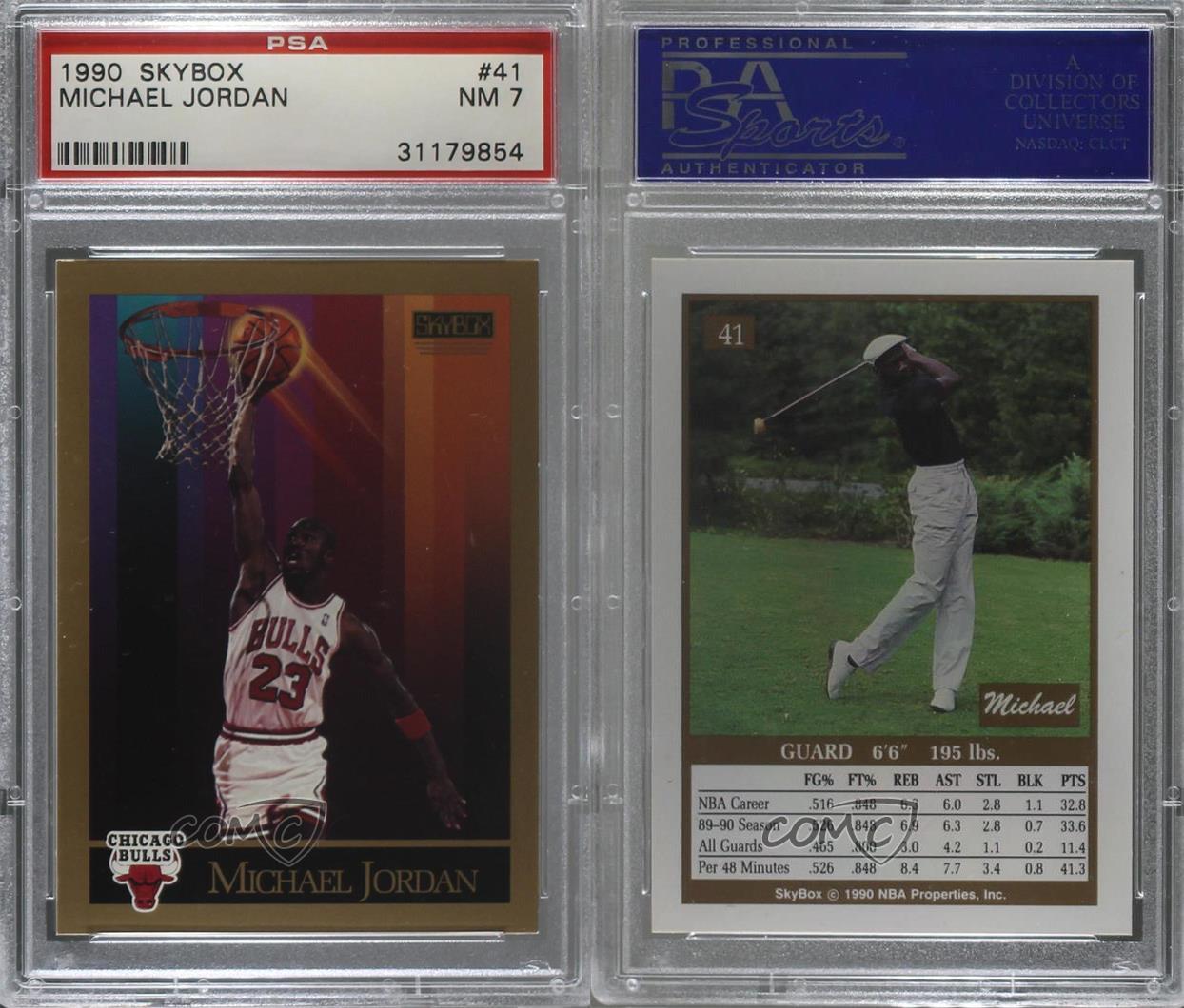 1990-91-Skybox-41-Michael-Jordan-PSA-7-NM-Chicago-Bulls-Basketball-Card