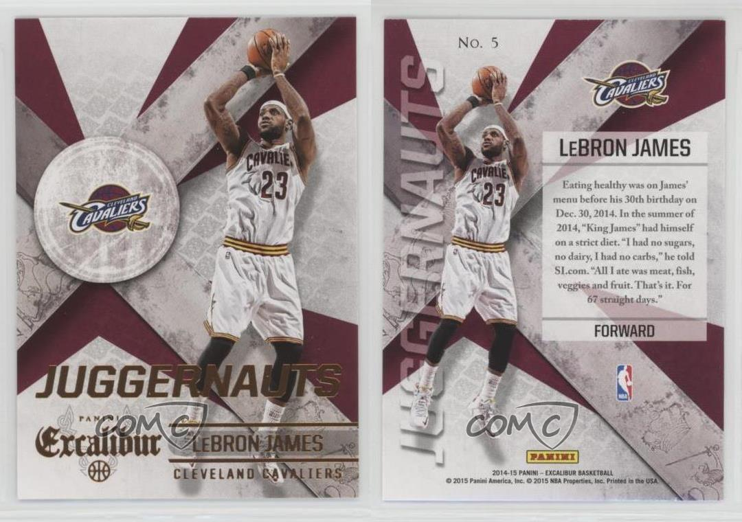 2014-15-Panini-Excalibur-Juggernauts-5-Lebron-James-Cleveland-Cavaliers-Card