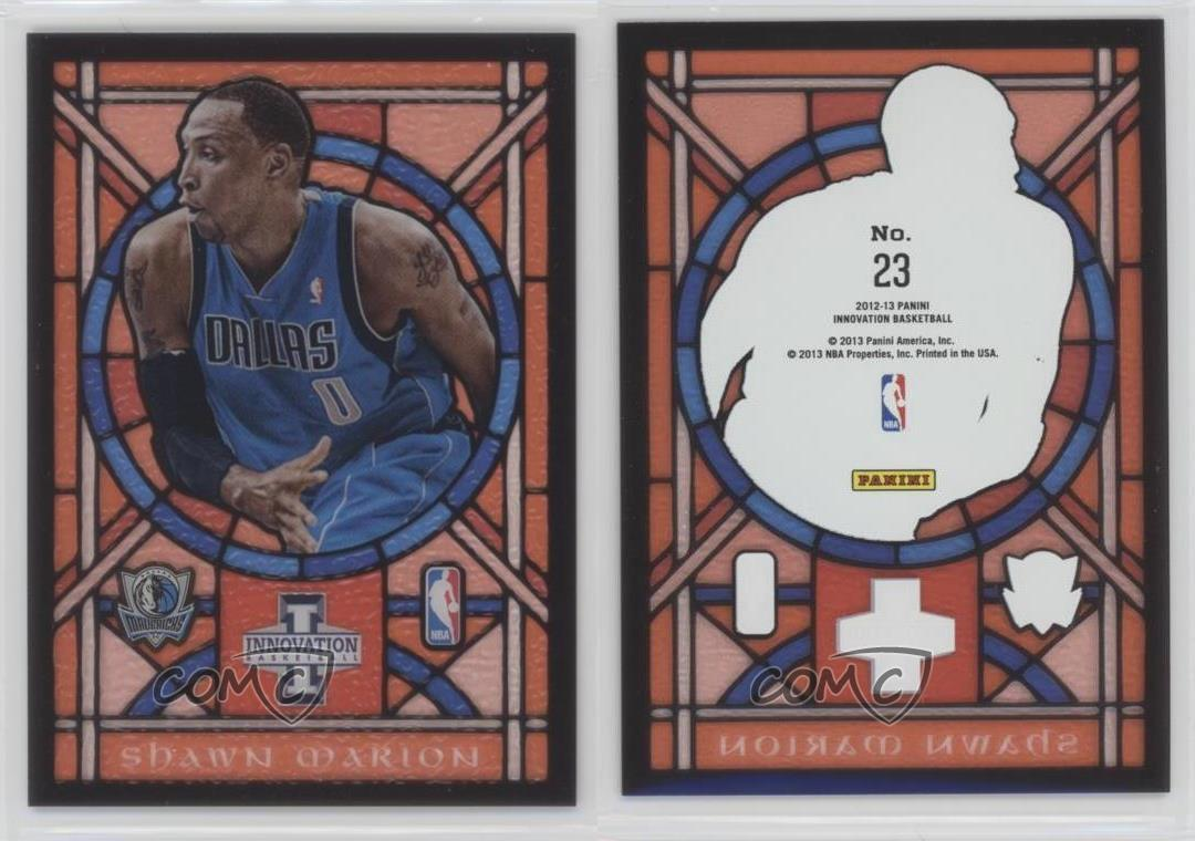 2012-13-Panini-Innovation-Stained-Glass-23-Shawn-Marion-Dallas-Mavericks-Card