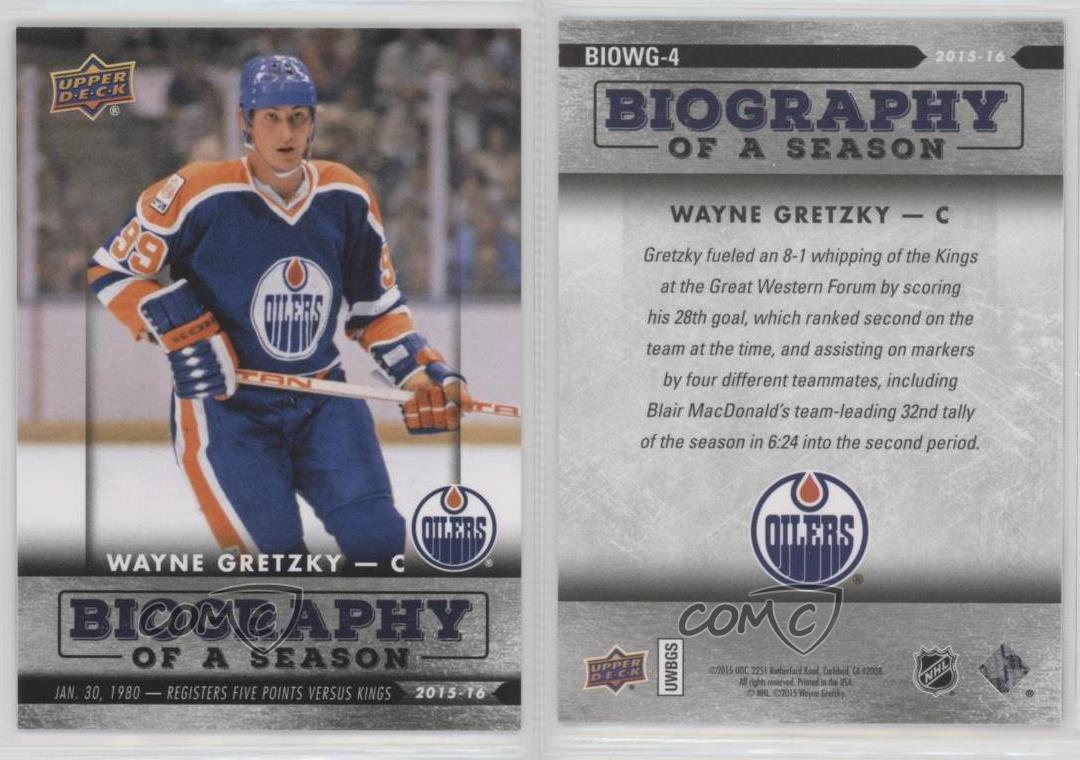 a comparison of wayne gretzkys biographies Twitter: @officialgretzky wayne gretzky is a former canadian professional ice hockey player gretzky, nicknamed the great one played for the edmonton oilers, la.