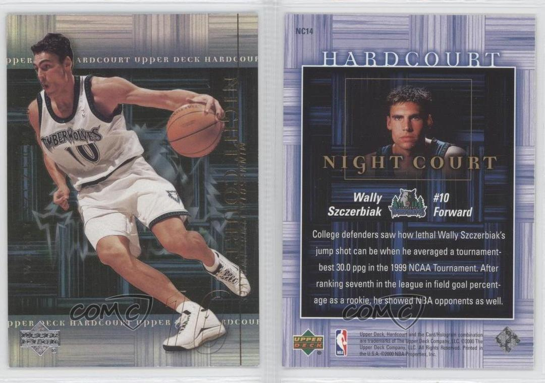 2000 01 Upper Deck Hardcourt Night Court NC14 Wally Szczerbiak