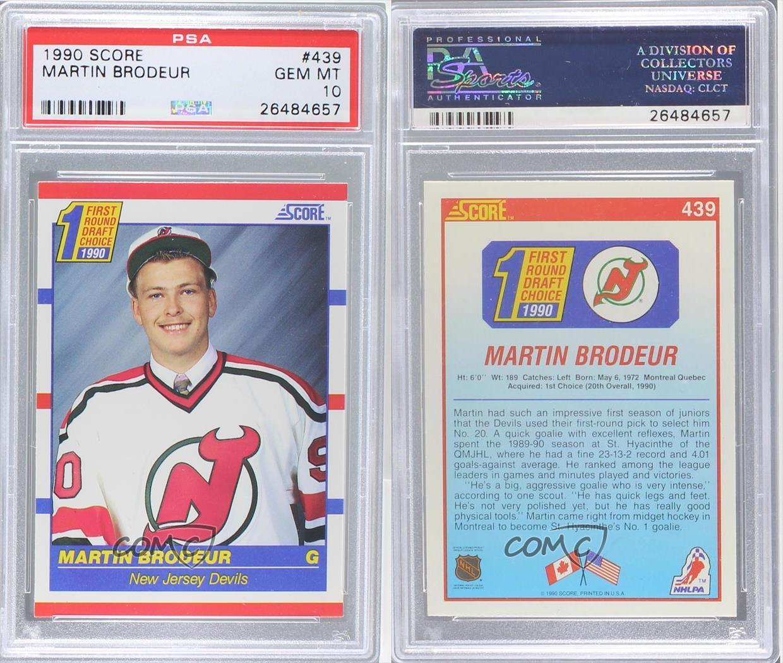 1990-91 Score #439 Martin Brodeur PSA 10 New Jersey Devils