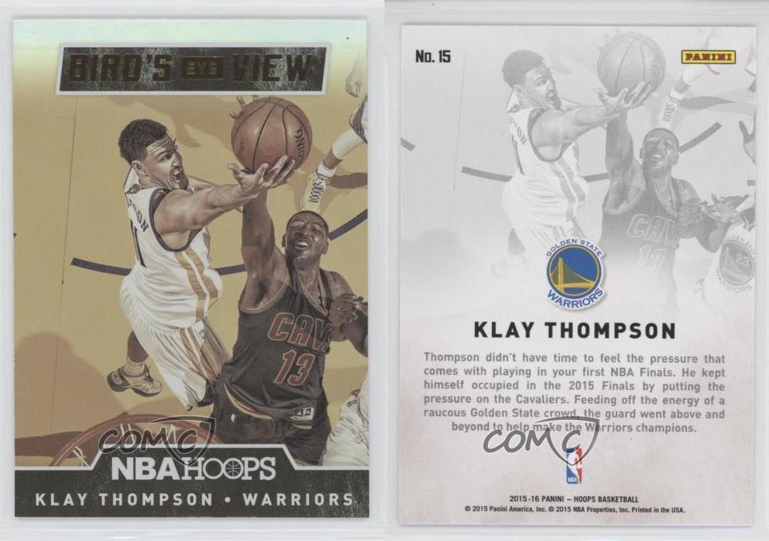 2015-16-Panini-NBA-Hoops-Bird-039-s-Eye-View-15-Klay-Thompson-Golden-State-Warriors