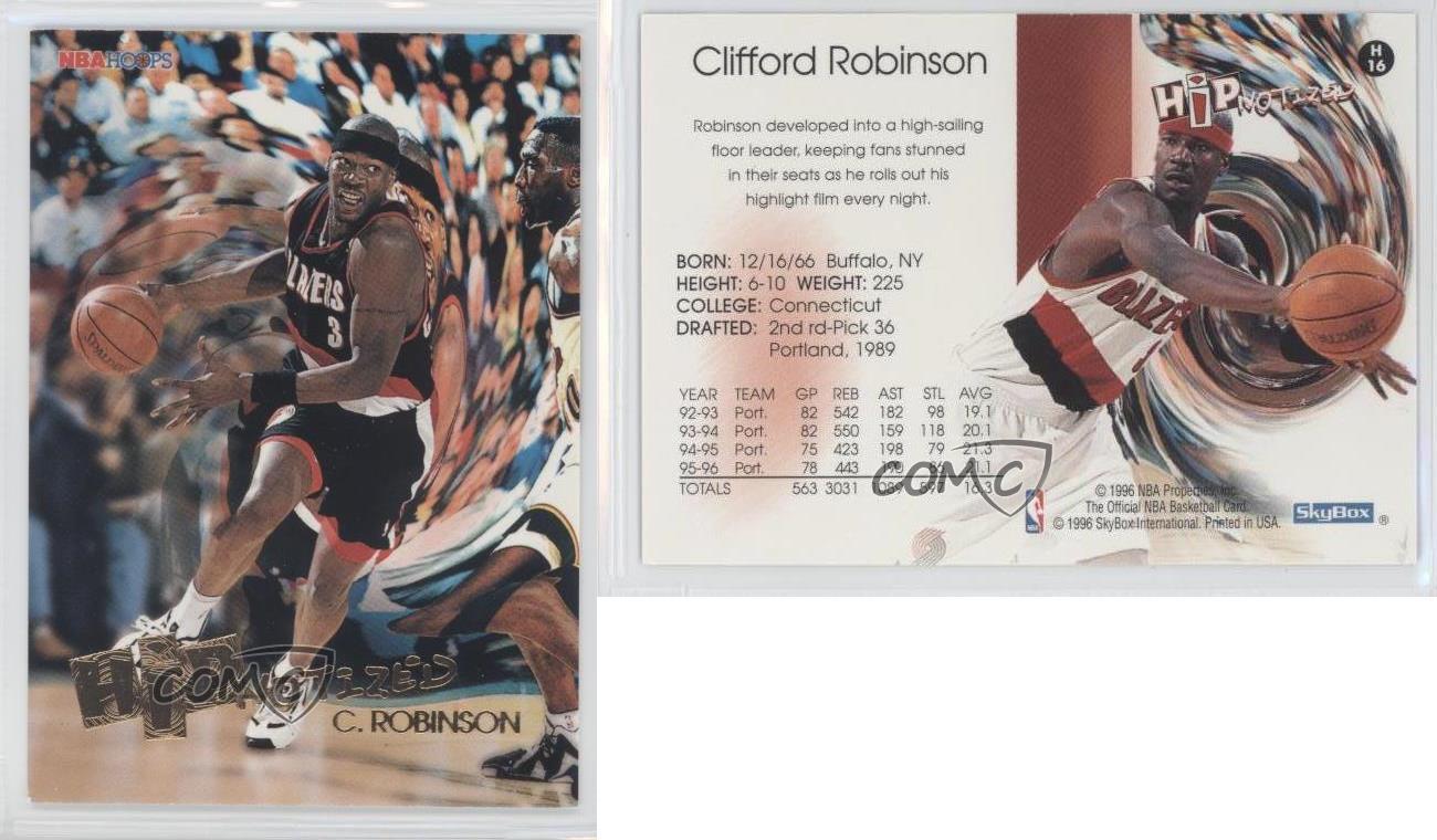 1996 97 NBA Hoops Hipnotized H16 Clifford Robinson Portland Trail