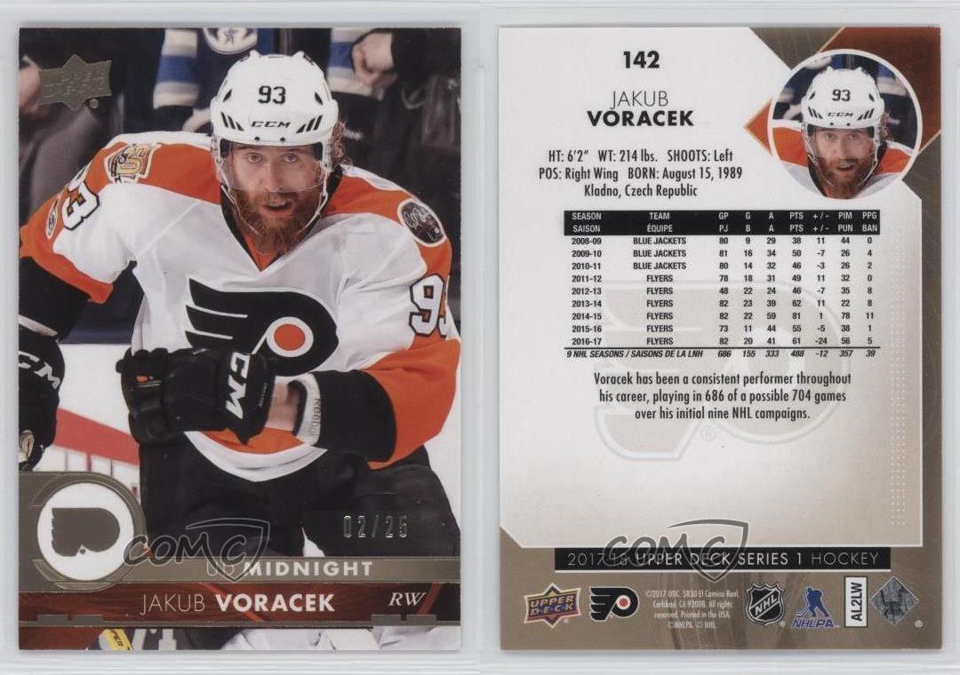 2017-18-Upper-Deck-UD-Midnight-142-Jakub-Voracek-Philadelphia-Flyers-Hockey-Card