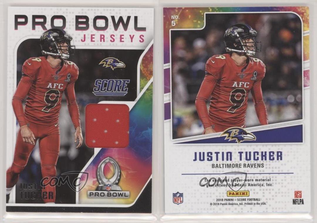 2018 Score Pro Bowl Jerseys Justin Tucker #5   eBay