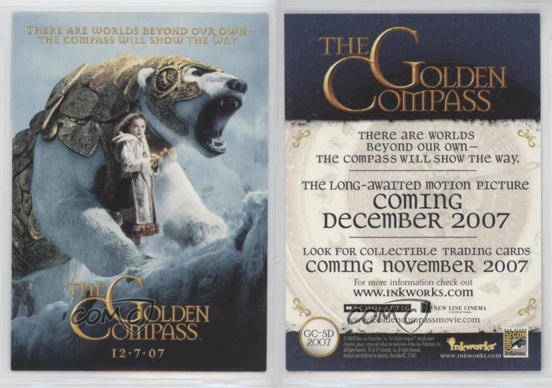 GOLDEN COMPASS Inkworks 2007 GC-UKP ONE SHIP FEE PER ORDER CHEAP PROMO CARD
