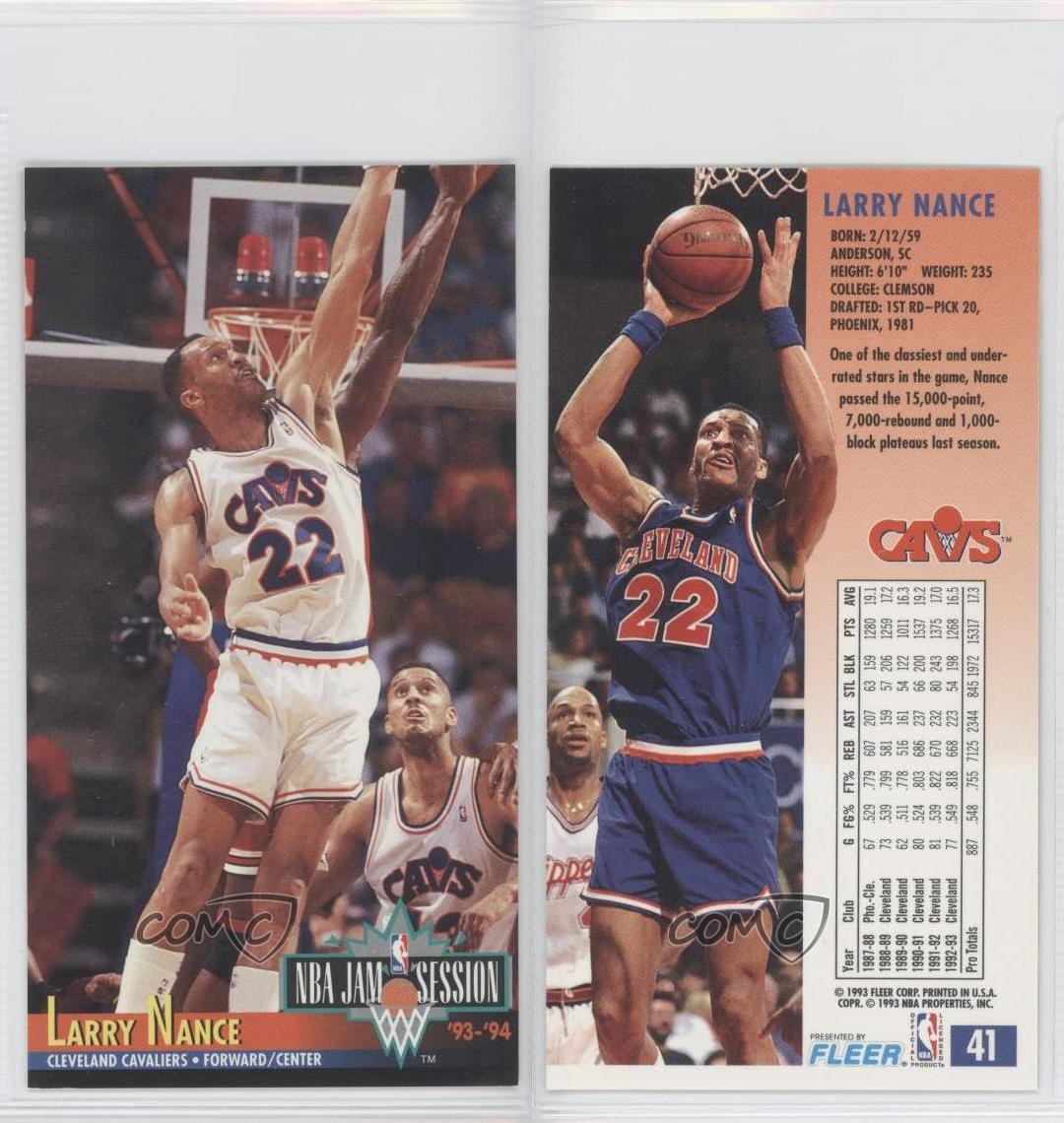 1993-94 NBA Jam Session #41 Larry Nance Cleveland