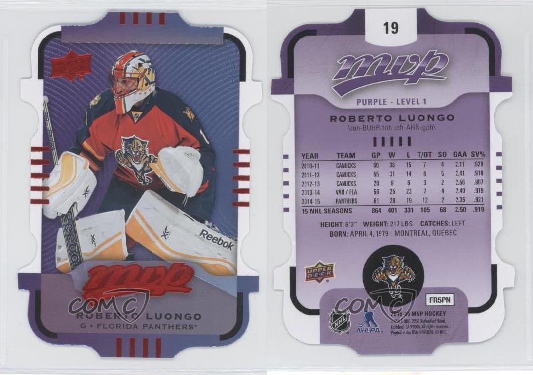 2015-16-Upper-Deck-MVP-Colors-amp-Contours-19-Purple-Level-1-Roberto-Luongo-Card