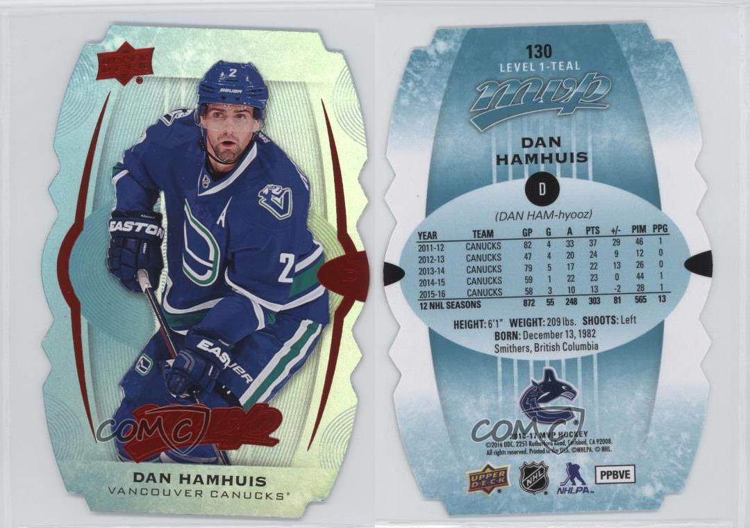 2016-Upper-Deck-MVP-Colors-amp-Contours-130-Level-1-Teal-Dan-Hamhuis-Hockey-Card