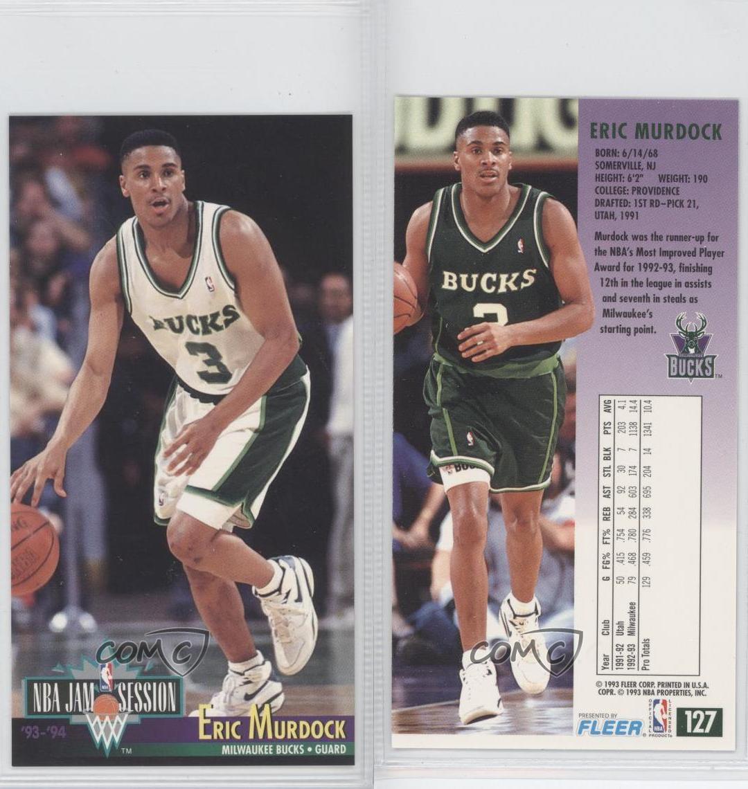 1993-94 NBA Jam Session #127 Eric Murdock Milwaukee Bucks