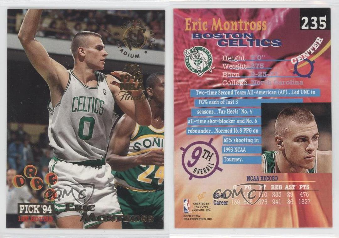 1994 Topps Stadium Club Prizes The 1995 NBA Finals 235 Eric Montross Rookie Card | eBay