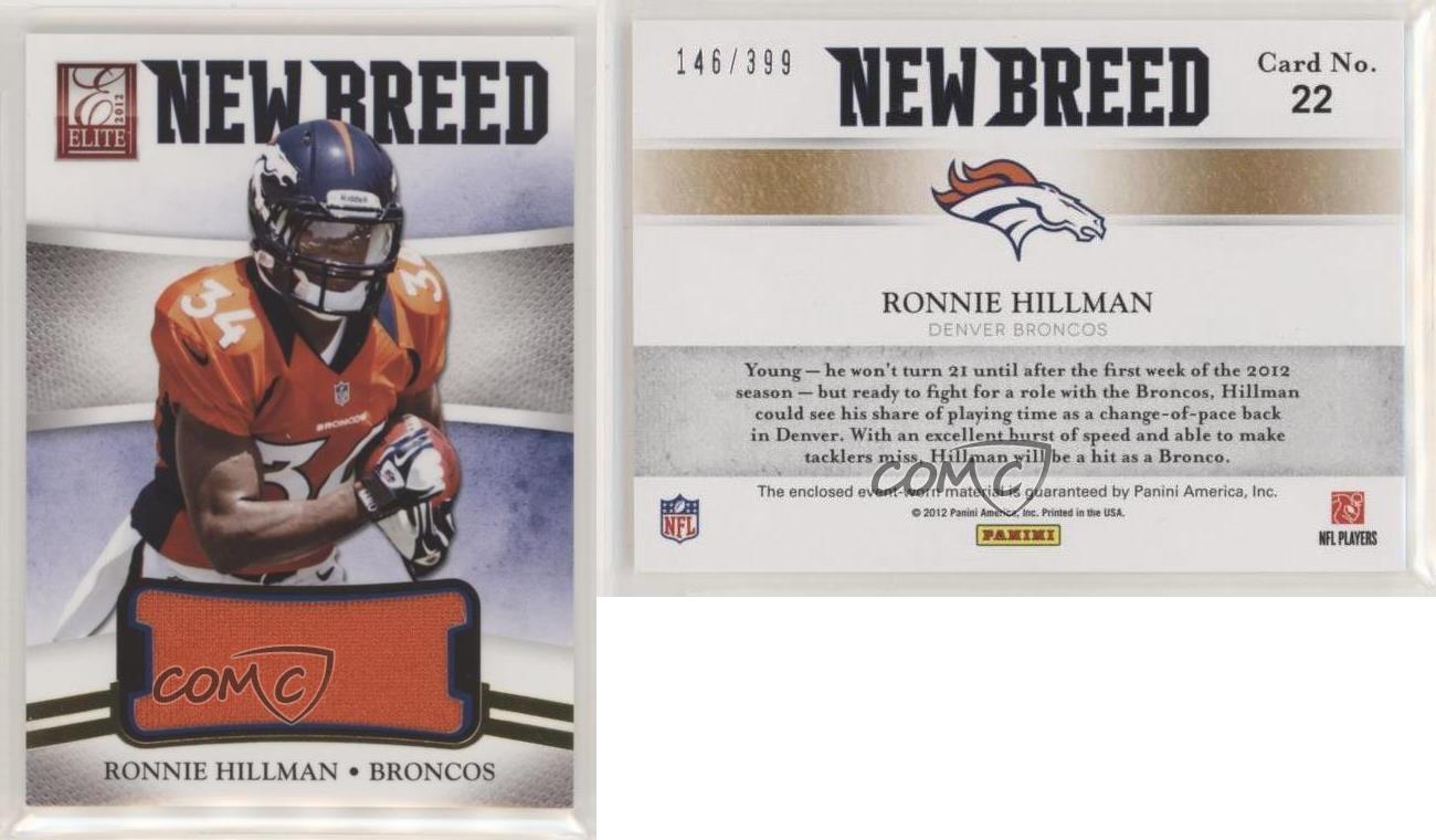 Details about 2012 Elite New Breed Jerseys /399 Ronnie Hillman #22 Rookie