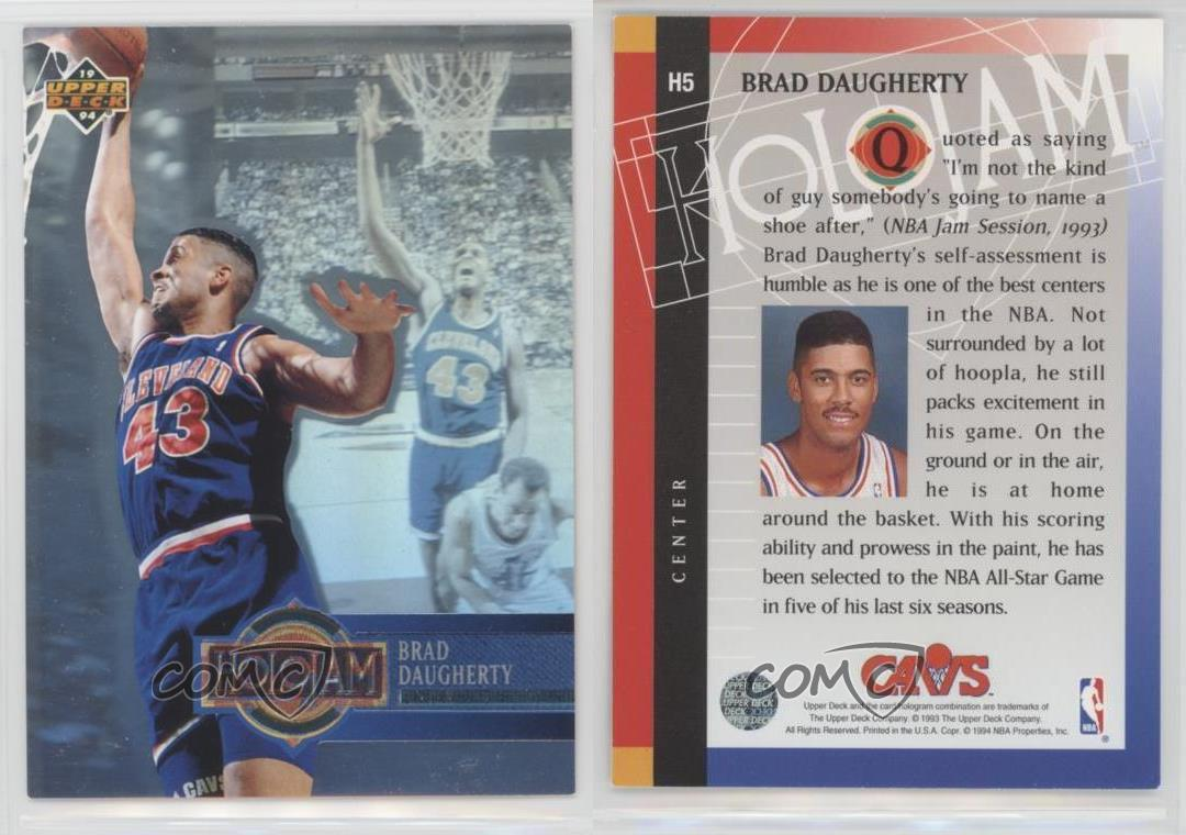 1993 94 Upper Deck Box Set Holojam H5 Brad Daugherty Cleveland