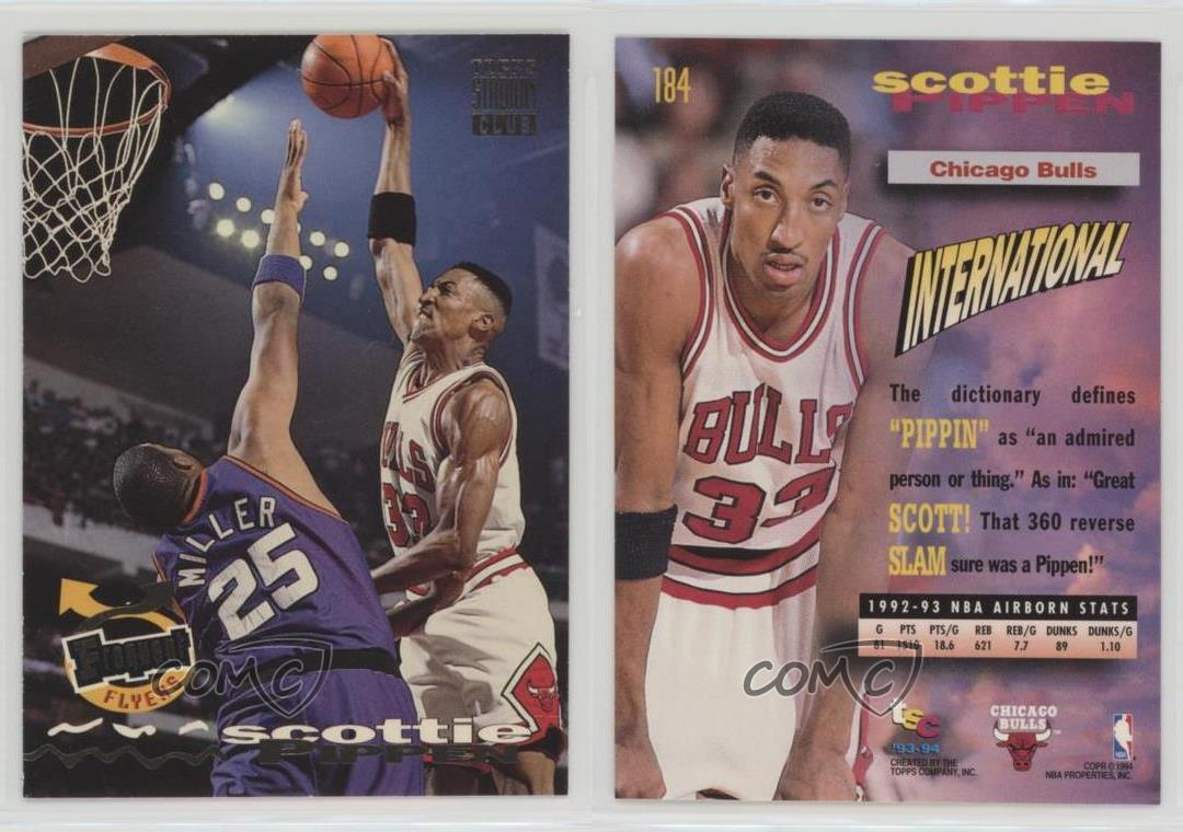 1993-94-Topps-Stadium-Club-184-Frequent-Flyers-Scottie-Pippen-Chicago-Bulls-Card