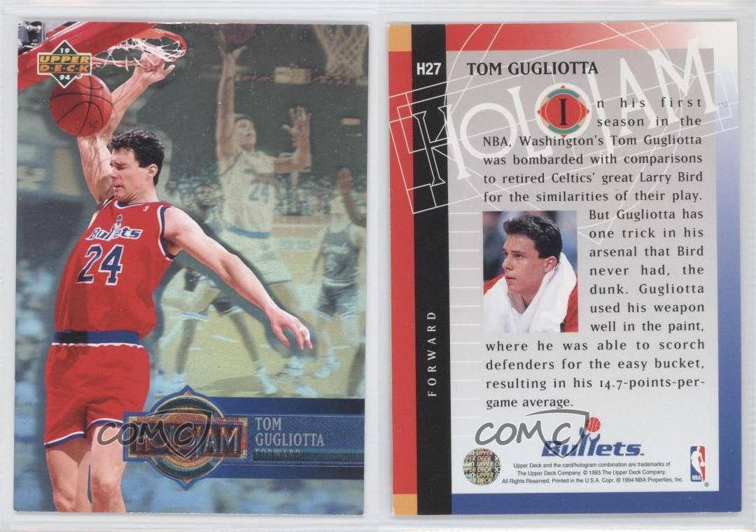 1993 94 Upper Deck Box Set Holojam H27 Tom Gugliotta Washington