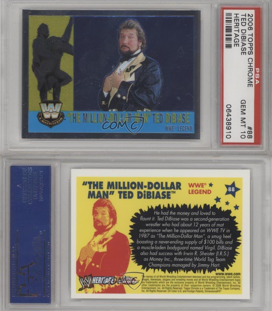 #88 MILLION DOLLAR MAN TED DiBIASE 2005 Topps WWE Heritage I LEGEND