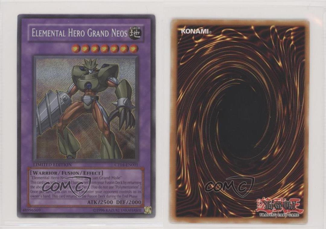 3X Elemental HERO Nebula Neos Limited Edition Secret Rare CT15-EN001 YUGIOH