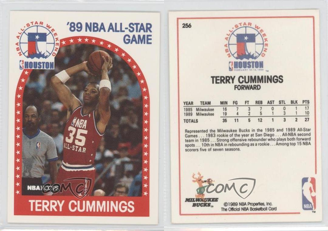 1989 90 NBA Hoops 256 All Star Game Terry Cummings Team