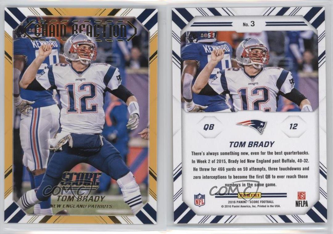 2016 Score Chain Reaction Gold #3 Tom dy New England Patriots ...