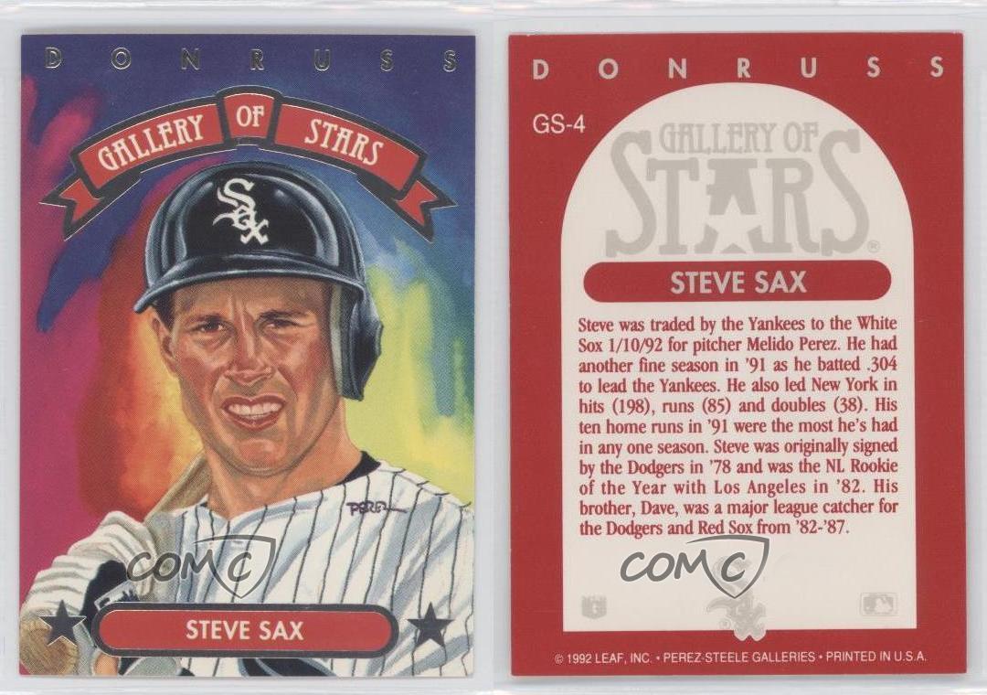1992 Donruss Triple Play Gallery Of Stars Gs 4 Steve Sax