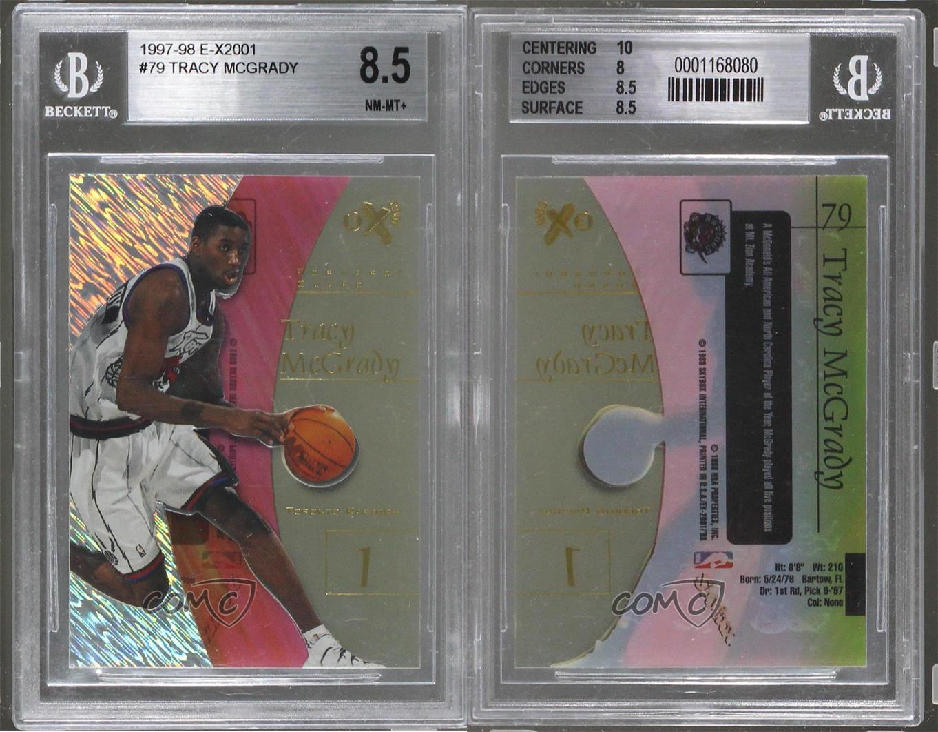 1997-EX2001-79-Tracy-McGrady-BGS-8-5-NM-MT-Toronto-Raptors-RC-Basketball-Card