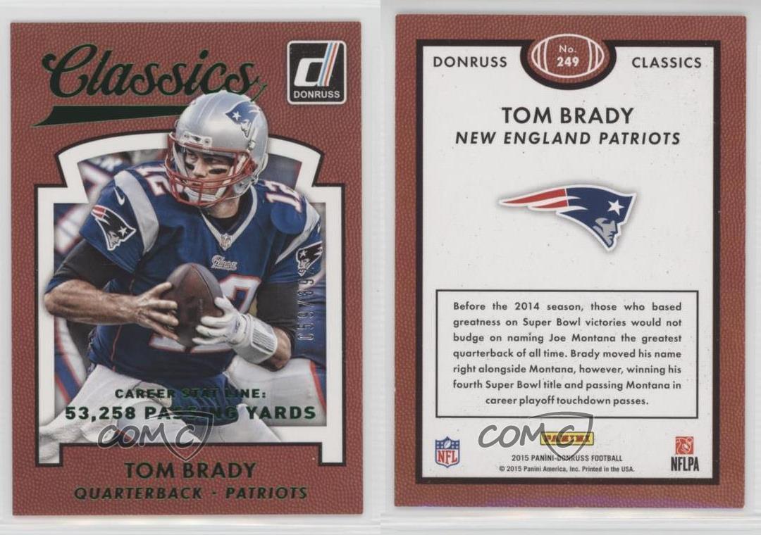 2015-Panini-Donruss-Stat-Line-Career-249-Classics-Tom-Brady-New-England-Patriots