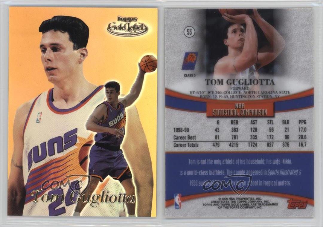 1999 00 Topps Gold Label Class 3 53 Tom Gugliotta Phoenix Suns