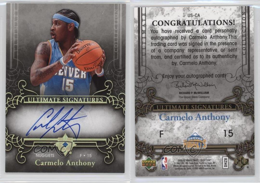 2006 Ultimate Collection Signatures Autographed #US-CA ...