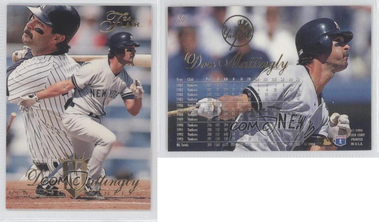 1994 Flair 84 Don Mattingly New York Yankees Baseball