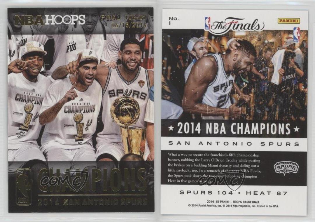 2014-15-NBA-Hoops-Champions-1-San-Antonio-Spurs-Team-Basketball-Card