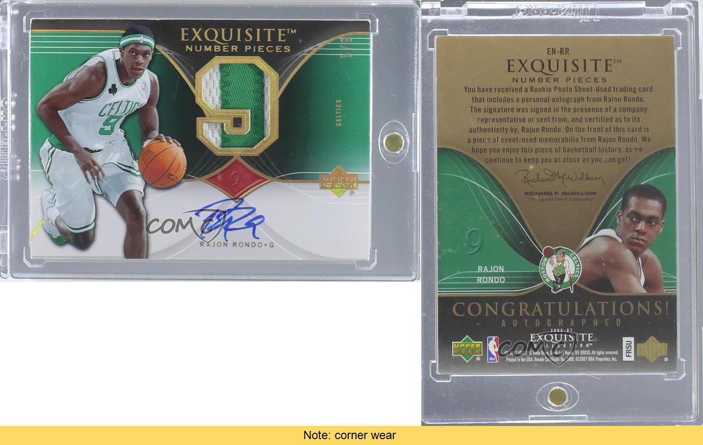 2006-Upper-Deck-Exquisite-Collection-EN-RR-Rajon-Rondo-Boston-Celtics-Auto-Card