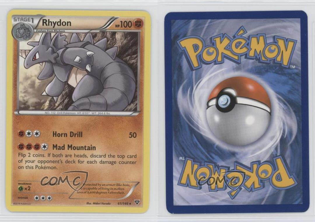 Rhydon 61//146 X/&Y Base Set    Rare   NM//Mint Pokemon
