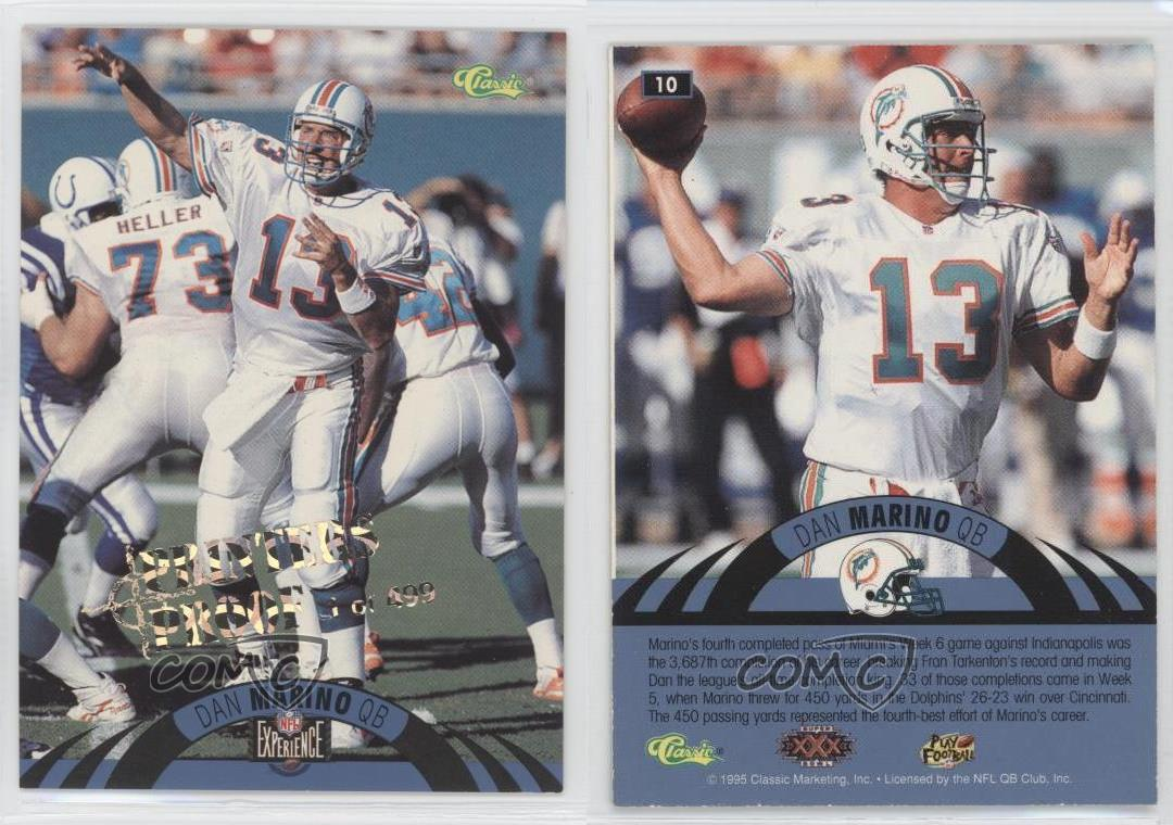 huge selection of 61192 4407f Image is loading 1996-Classic-NFL-Experience-Printers-Proof-10-Dan-