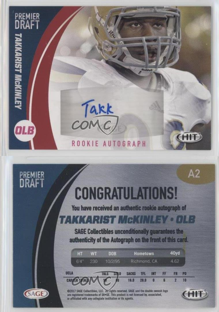 2017-Sage-Hit-Autographs-Red-A2-Takkarist-McKinley-UCLA-Bruins-Auto-Rookie-Card
