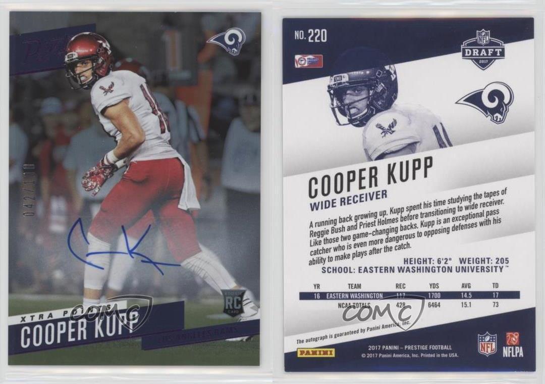 2017-Panini-Prestige-220-Cooper-Kupp-Los-Angeles-Rams-Auto-Rookie-Football-Card