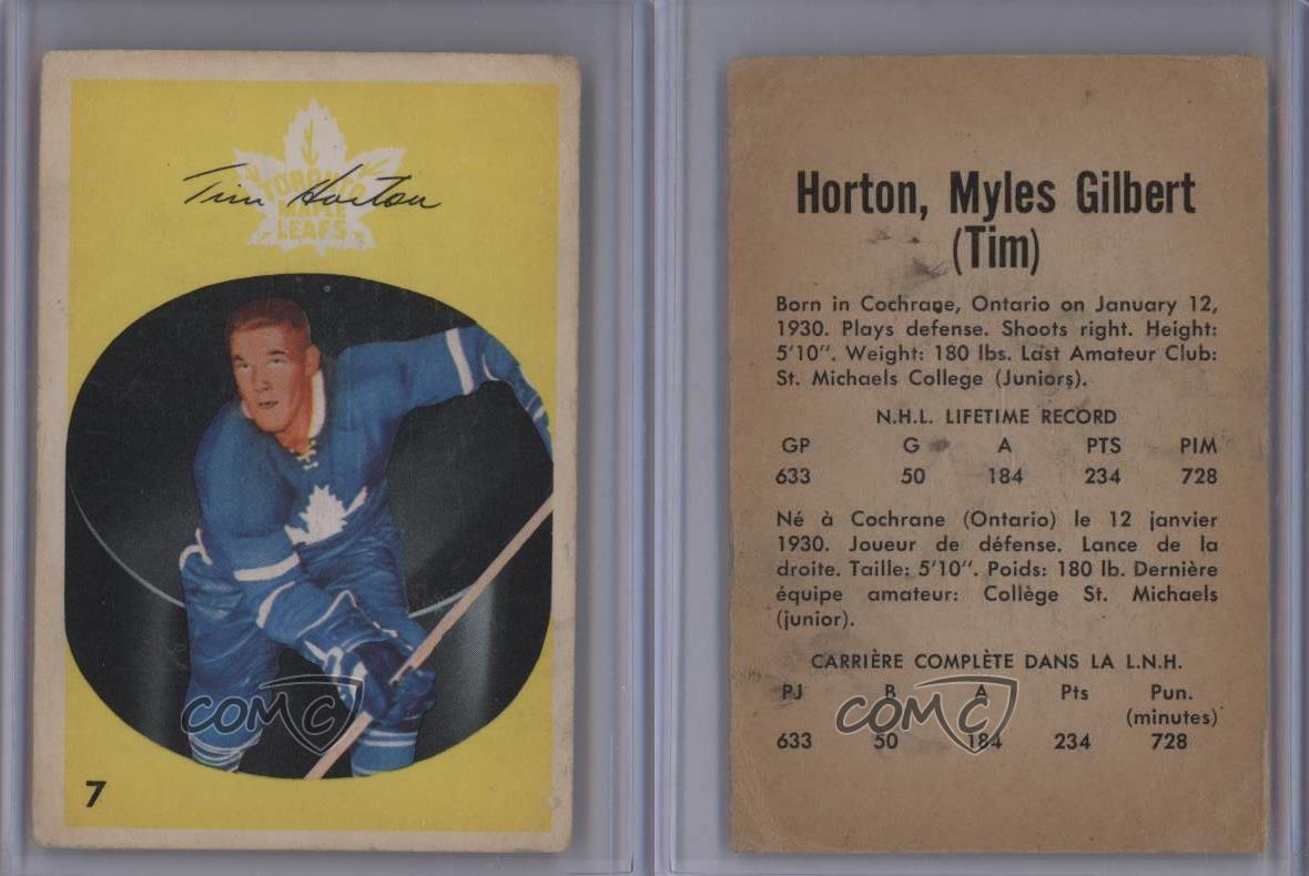 1962-63-Parkhurst-7-Tim-Horton-Toronto-Maple-Leafs-Hockey-Card