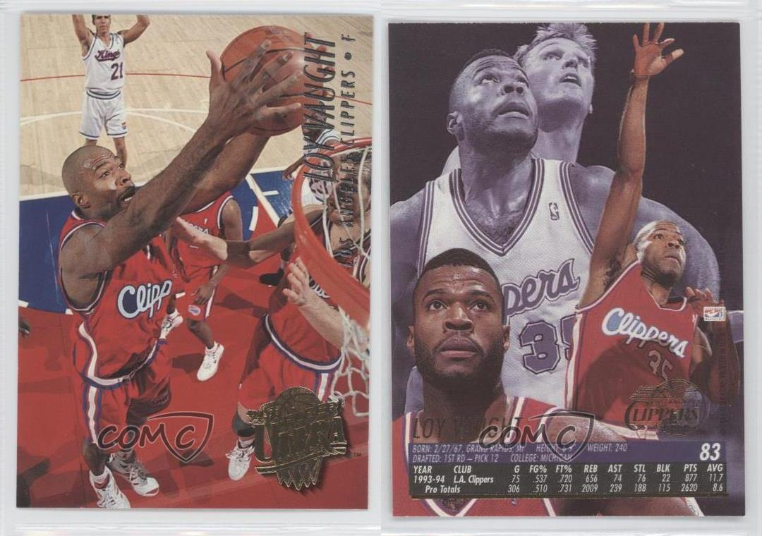 1994 95 Fleer Ultra 83 Loy Vaught Los Angeles Clippers Basketball