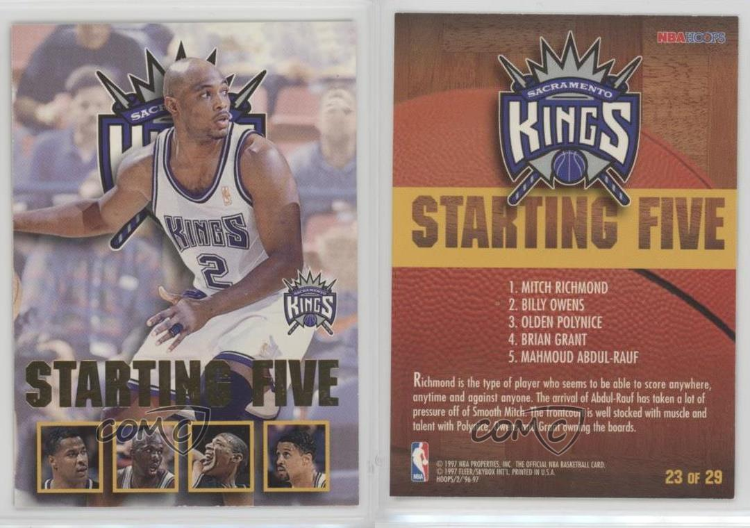1996 NBA Hoops Starting Five 23 Sacramento Kings Mitch Richmond