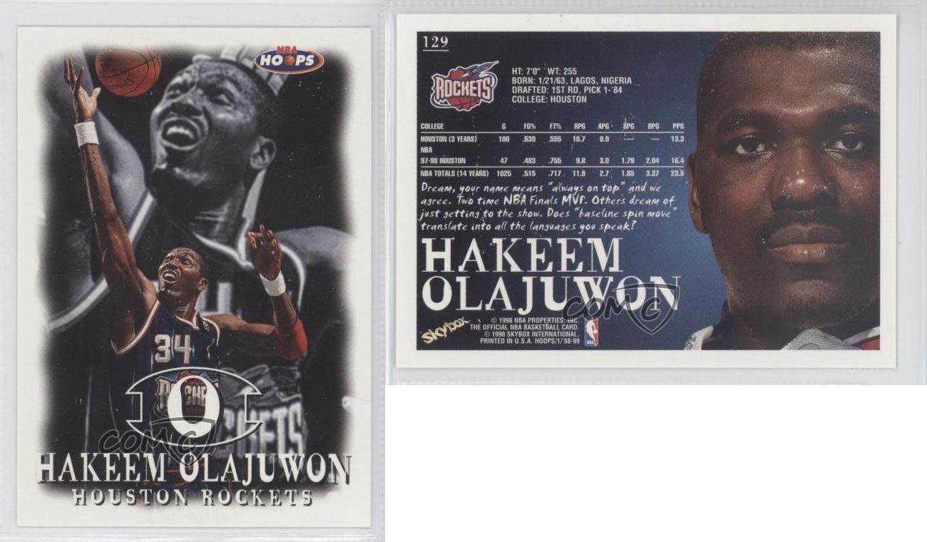 Ho houston rockets nba championship - 1998 99 Nba Hoops 129 Hakeem Olajuwon Houston