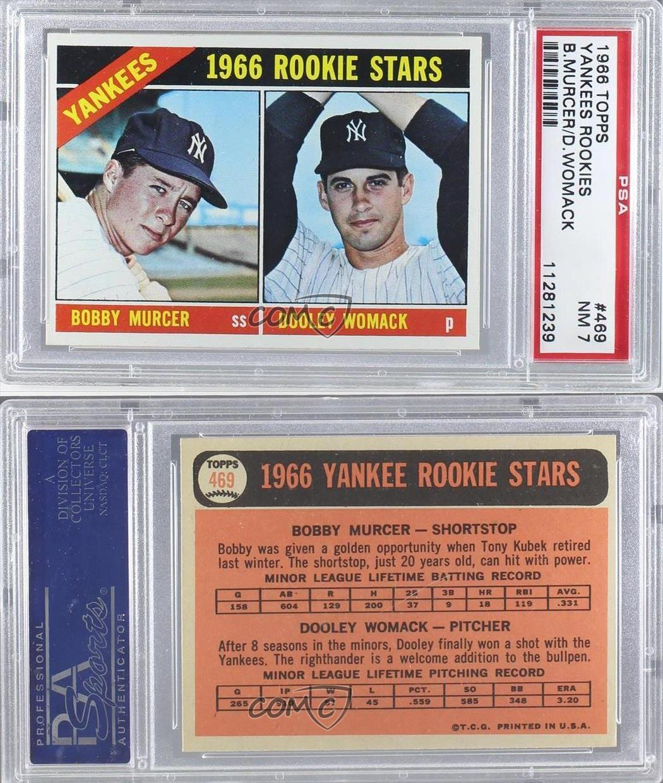 1966 Topps #469 Bobby Murcer Dooley Womack PSA 7 New York