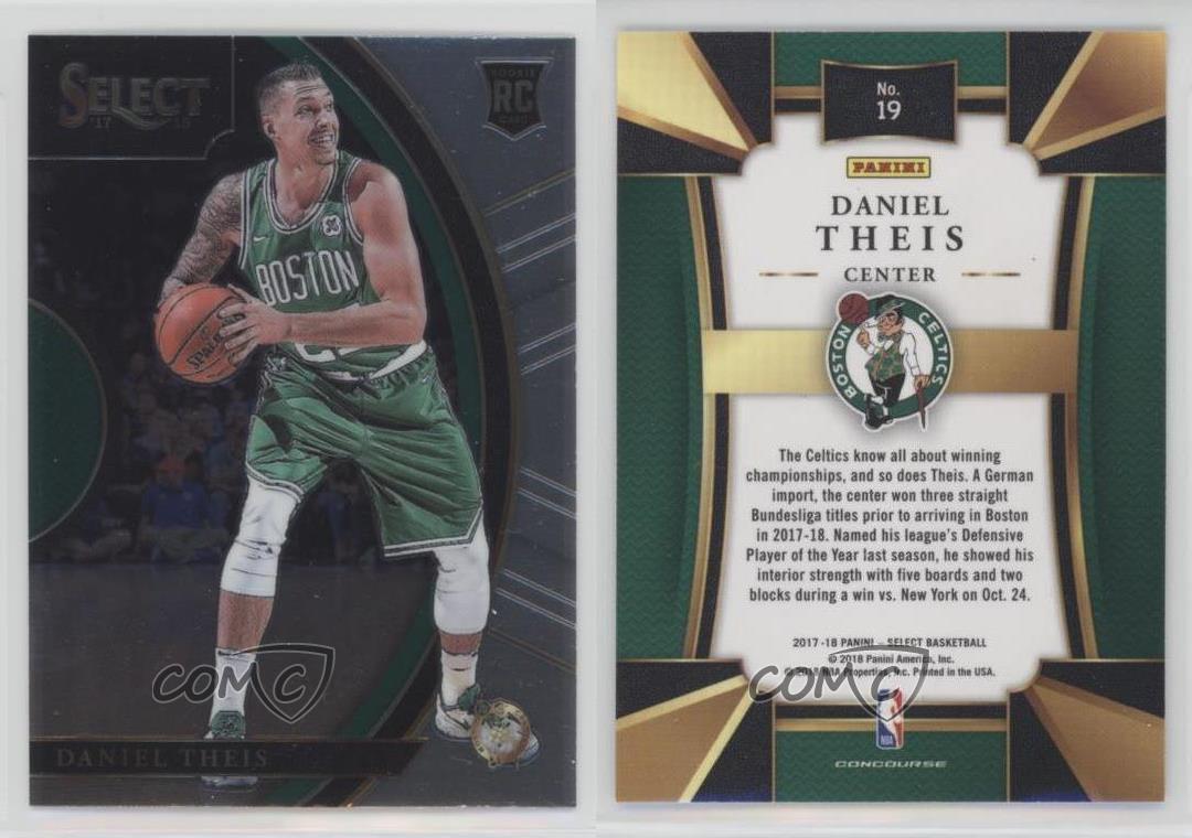 2017-18 Panini Select #19 Daniel Theis Boston Celtics Rookie Basketball Card