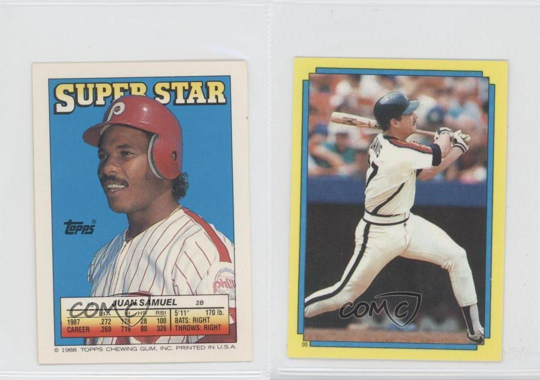 1988 Topps Super Star Sticker Back Cards 5 1 Juan Samuel