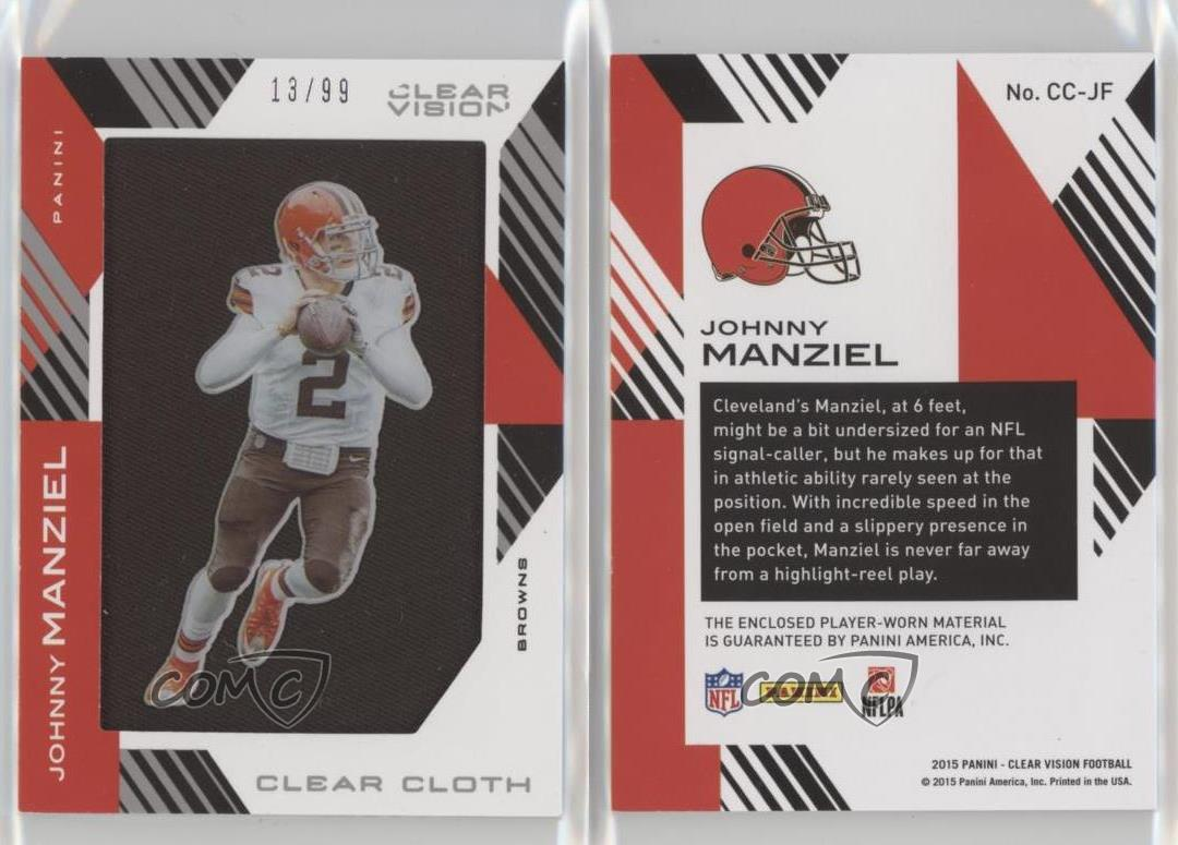 2015-Panini-Clear-Vision-Cloth-Jerseys-CC-JF-Johnny-Manziel-Cleveland-Browns