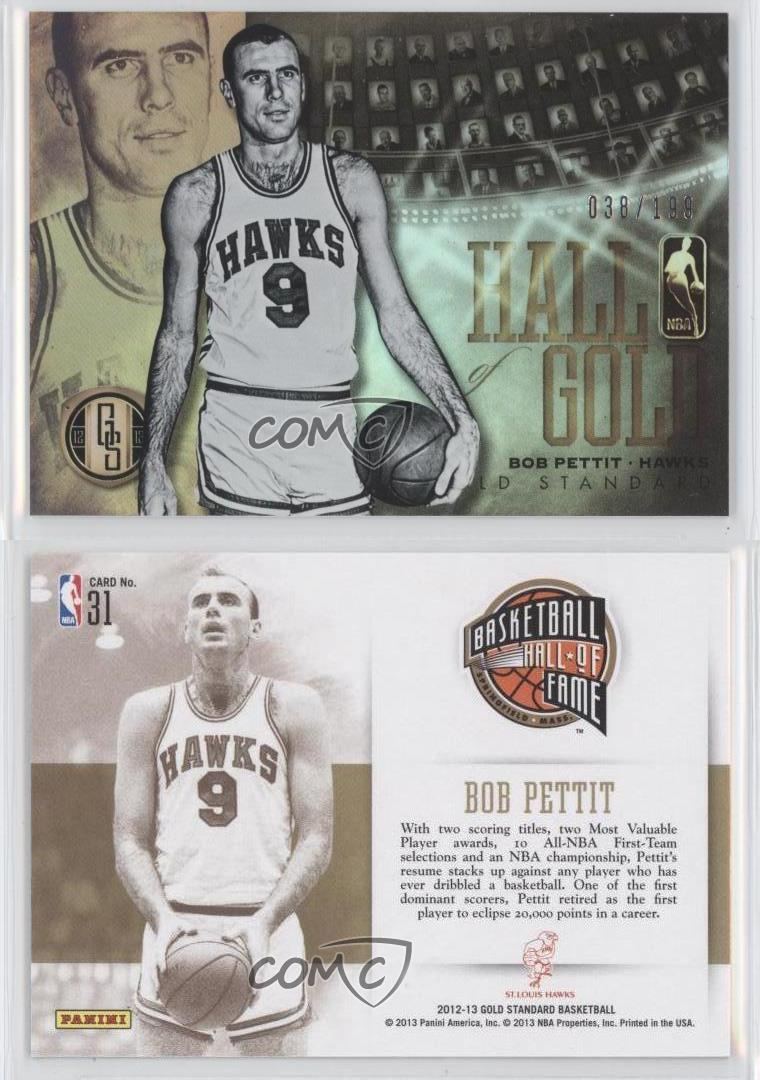 2012 13 Panini Gold Standard Hall of 31 Bob Pettit St Louis