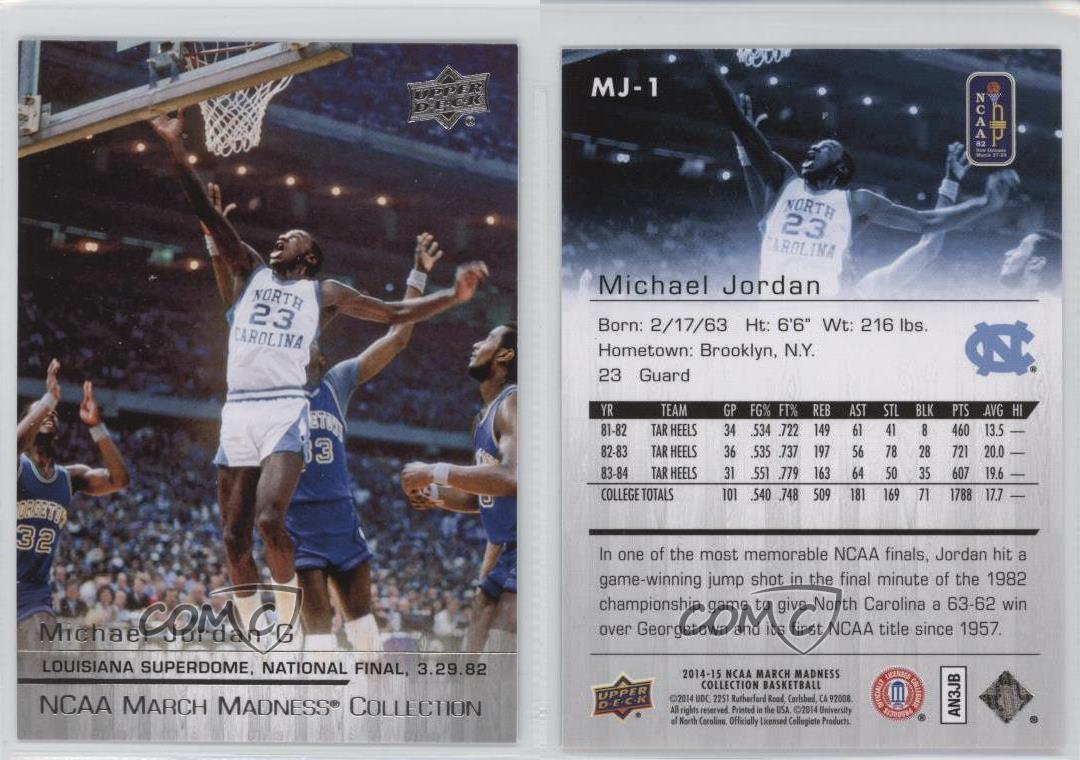 2014 15 upper deck ncaa march madness collection mj 1 michael 2014 15 upper deck ncaa march madness collection reheart Choice Image